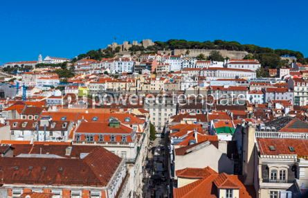 Architecture : Aerial view of Lisbon old town Portugal #03809