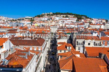 Architecture : Aerial view of Lisbon old town Portugal #03810