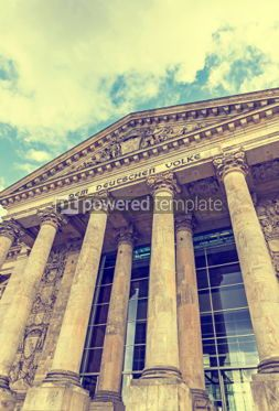 Architecture : German parliament building (Reichstag) in Berlin Germany #03821