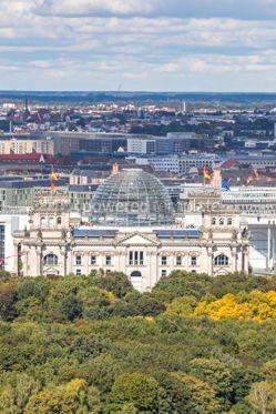 Architecture : Roof of German parliament building (Bundestag) in Berlin German #03825