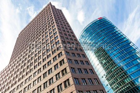 Architecture : Kollhoff Tower and Bahn Tower on Potsdamer Platz in Berlin #03828
