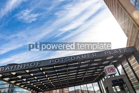 Architecture : Entrance to the Potsdamerplatz Railway Station in Berlin #03829