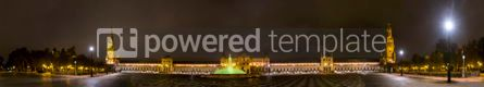 Architecture: Panorama of Plaza de Espana at night. Seville Spain #03833
