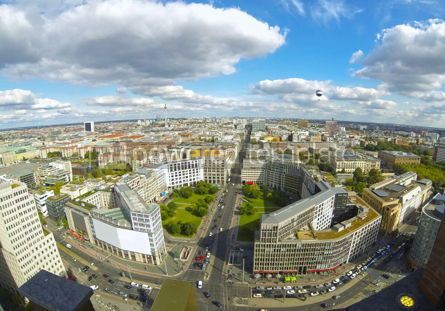 Architecture : Aerial view of Berlin center Germany #03835