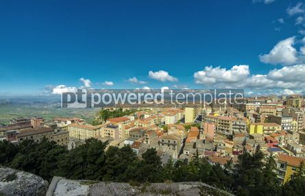Architecture : Picturesque aerial view of Enna old town Sicily Italy #03836