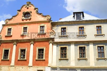 Architecture : Two colourful buildings #03844