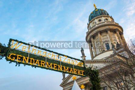 Architecture : Gendarmenmarkt Christmas Market in Berlin Germany #03846