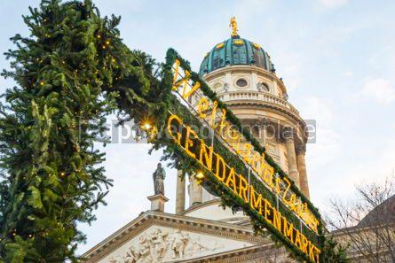 Architecture : Gendarmenmarkt Christmas Market in Berlin Germany #03847