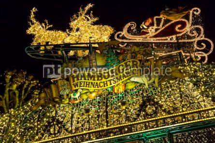 Holidays: Christmas market (Weihnachtsmarkt) in Hamburg Germany #03851