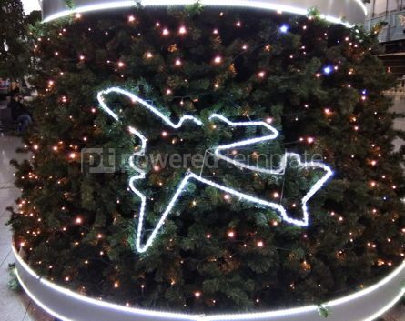 Holidays: New Year's Tree decorated with airplanes #03853