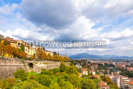 Architecture : Aerial view of Bergamo city Lombardy Italy #03857