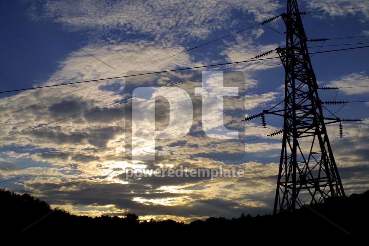 Power transmission line, 03864, Industrial — PoweredTemplate.com