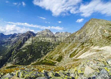Nature: Picturesque summer view of High Tatras mountains Slovakia #03866