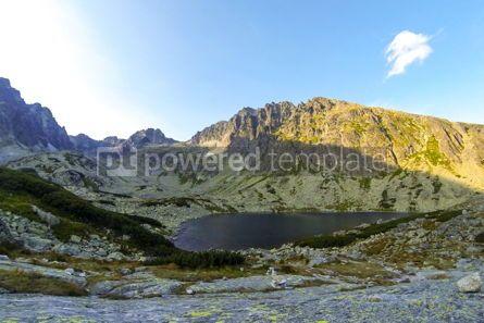Nature: Batizovske Pleso lake in High Tatras mountains Slovakia #03867