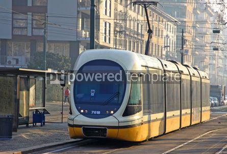 Transportation: Modern tram in Milan Italy #03882