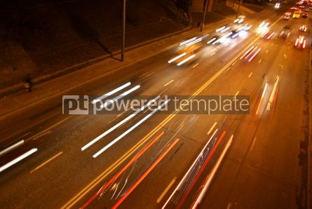 Transportation: Long exposure of night road traffic in Kyiv Ukraine #03884