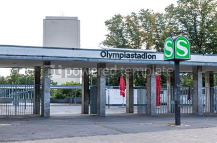 Transportation: Olympiastadion S-Bahn station in Berlin Germany #03886