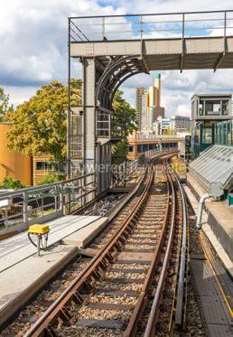 Transportation: Rail-track of Berlin metro Germany  #03889