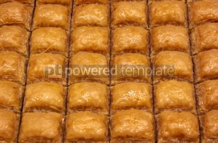 Food & Drink: Traditional Turkish baklava (sweet dessert made of thin pastry  #03896