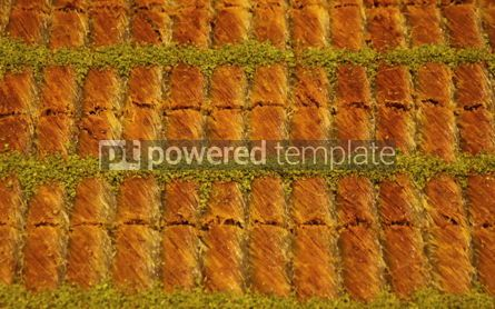 Food & Drink: Traditional Turkish baklava (sweet dessert made of thin pastry  #03897