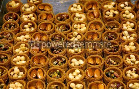 Food & Drink: Close-up traditional Turkish baklava cakes (sweet dessert made o #03898