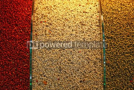 Food & Drink: Piles of red white and green pepper on a spice market in Istanb #03900