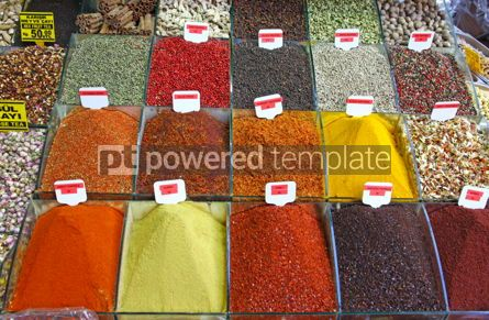 Food & Drink: Close-up various herbs and spices section at the market #03901