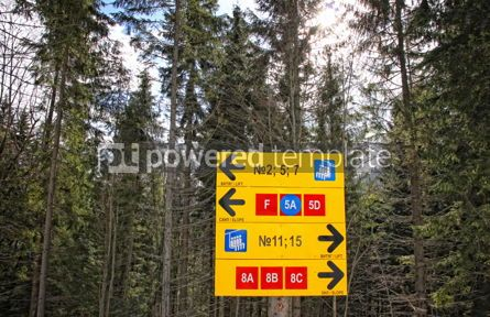 Sports : Direction sign of ski tracks #03916