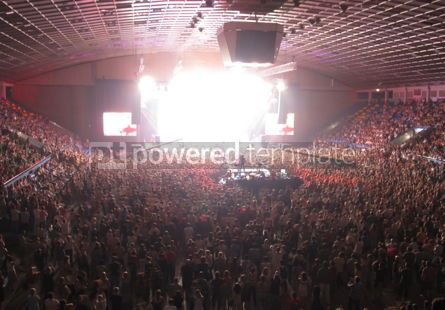 Sports : Cheering crowd in a concert hall #03926