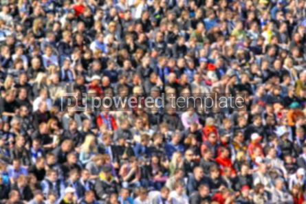 Sports : Blurred crowd of spectators on a stadium tribune at a sporting e #03927