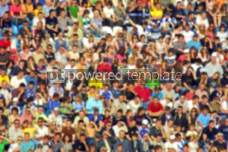 Sports : Blurred crowd of spectators on a stadium tribune at a sporting e #03929