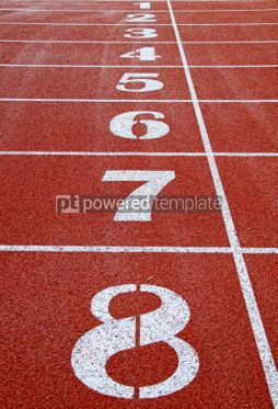 Sports : Starting grid of race track at a stadium #03930