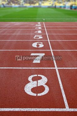 Sports : Starting grid of race track at a stadium #03931