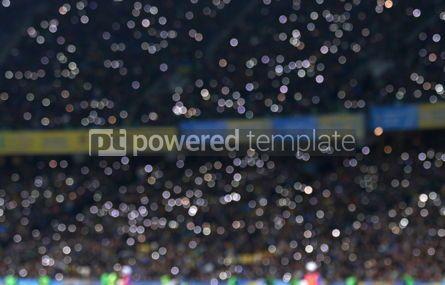 Sports : Defocused crowded tribunes of the stadium #03933