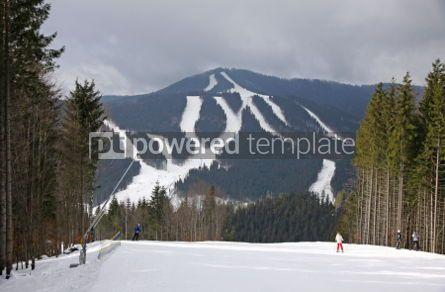 Nature: Ski track of Bukovel ski resort Carpathian mountains Ukraine #03939