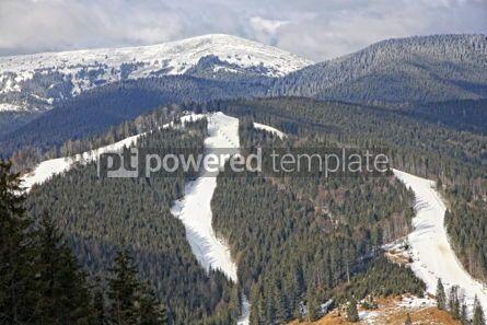 Nature: Ski tracks of famous Bukovel ski resort Carpathian mountains U #03941