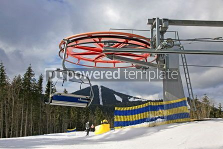 Nature: Ropeway on a top of one of the mountains of Bukovel ski resort  #03942