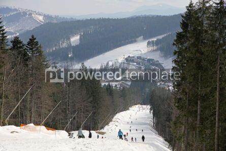 Nature: Track of famous Bukovel ski resort Carpathian mountains Ukrain #03943