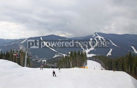 Nature: Ski track of Bukovel ski resort Carpathian mountains Ukraine #03944