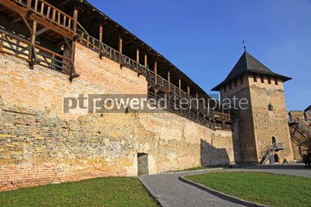 Architecture : Wall of Medieval Ljubart fortress in Lutsk city Ukraine #03954