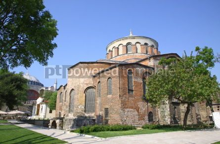 Architecture: Hagia Irene church (Aya Irini) in the park of Topkapi Palace in  #03961
