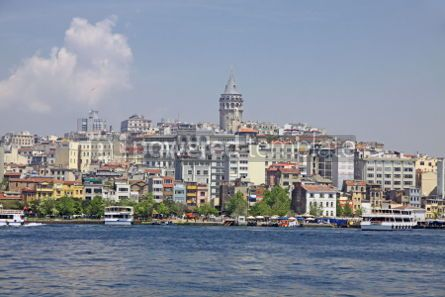 Architecture : Beyoglu historic district and Galata tower medieval landmark in  #03962