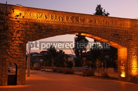 Architecture: Evening view of street in City of Kemer Antalya province Turke #03968