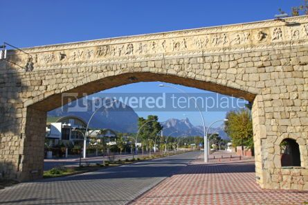 Architecture: Street of City of Kemer Antalya province Turkey #03969
