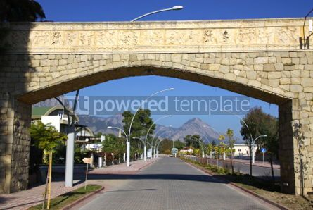 Architecture: Street of City of Kemer Antalya province Turkey #03971