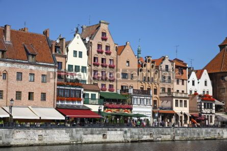 Architecture : Colourful buildings in City of Gdansk Poland #03974