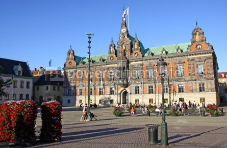 Architecture : Town Hall of Malmo City Sweden #03977