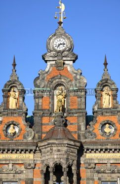 Architecture : Fragment of building of Malmo City Town Hall Sweden #03978