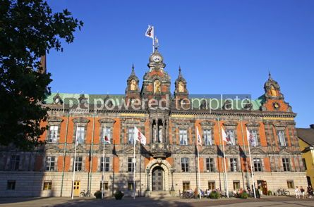 Architecture : Town Hall of Malmo City Sweden #03979