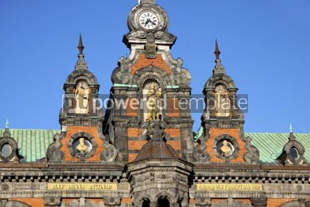 Architecture : Fragment of building of Malmo City Town Hall Sweden #03980